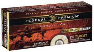 Federal 6.5 Grendel 130 Gr Gold Medal Berger Hybrid VLD (20)