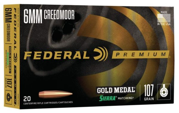 Federal 6mm Creedmoor 107 Gr Gold Medal Sierra Matchking (20)