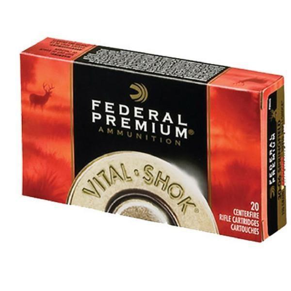Federal 30-06 Springfield 180 Gr Vital-Shok Trophy Bonded Tip (20)
