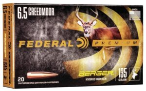 Federal 6.5 Creedmoor 135 Gr Gold Medal Berger Hybrid Hunter VLD (20)