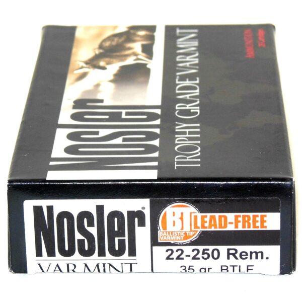 Nosler 22-250 Rem 35 Grain Boat Tail (Lead Free) (20)