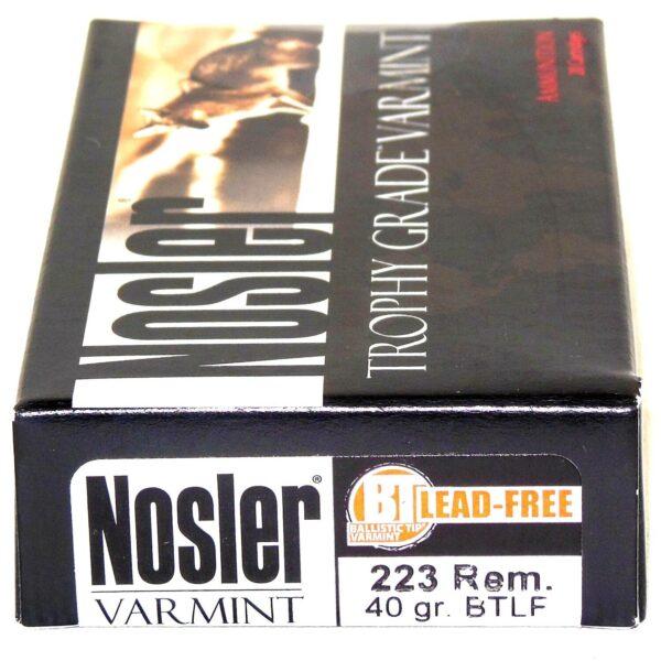 Nosler 223 Rem 40 Grain Boat Tail (Lead Free) (20)
