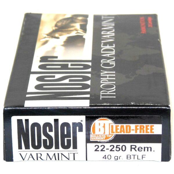 Nosler 22-250 Rem 40 Grain Boat Tail (Lead Free) (20)