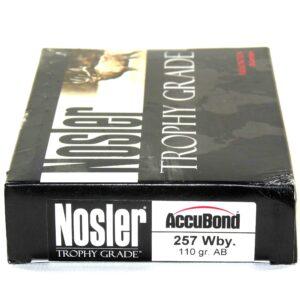 Nosler 257 Weatherby Magnum 110 Grain AccuBond (20)