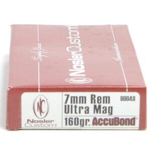 Ammo Fast - NOS60048 - Nosler 7mm Rum 160 Grain Accubond (20)