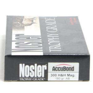 Nosler 300 H&H Magnum 180 Grain AccuBond (20)