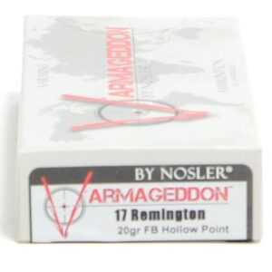 Nosler 17 Rem 20 Grain Flat Base Hollow Point Varmageddon (20)
