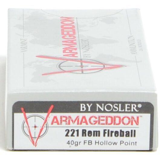 Nosler 221 Fireball 40 Grain Flat Base Hollow Point Varmageddon (20)