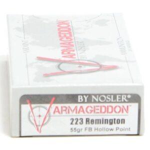 Ammo Fast - NOS65140 - Nosler 223 Rem 55 Grain Flat Base Hollow Point Varmageddon (20)