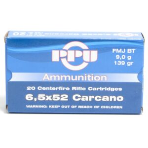 Prvi 6.5X52 Carcano 139 Grain Full Metal JacketBoat Tail (20)