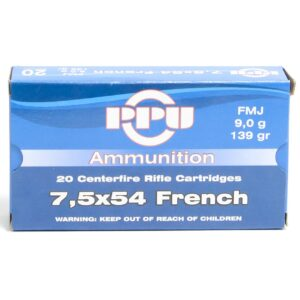 Prvi 7.5X54 French 139 Grain Full Metal Jacket (20)
