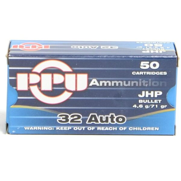 Prvi 32 Acp 71 Grain Jacketed Hollow Point (50)