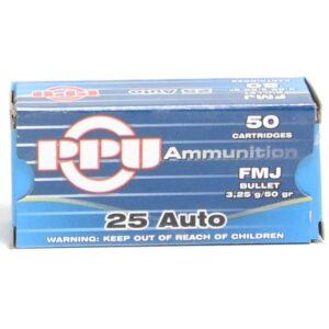 Prvi 25 Acp 50 Grain Full Metal Jacket (50)