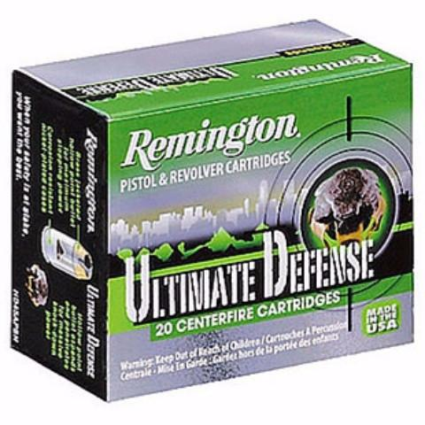 Remington 380 Auto 102 Gr Ultimate Defense Compact BJHP (20)