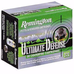 Remington 380 ACP 102 Gr Ultimate Defense Brass Jacket HP (20)