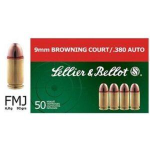 Sellier & Bellot .380 ACP 92 Gr FMJ (50)