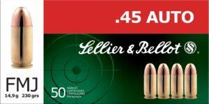 Sellier & Bellot 45 ACP 230 Gr FMJ (50)