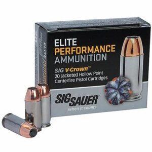 Sig Sauer 38 SPL +P 125 Gr V-Crown JHP (20)