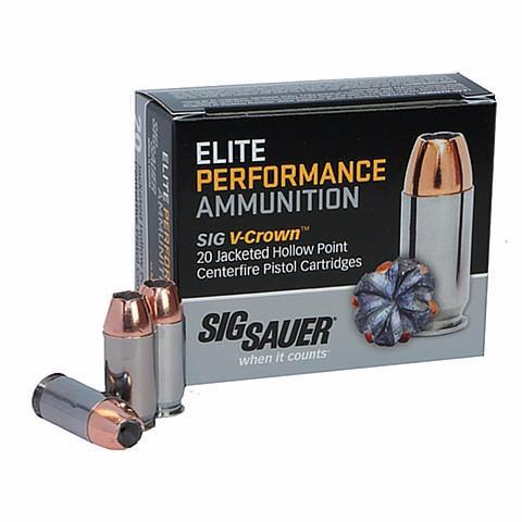 Sig Sauer 38 Super +P 125 Gr V-Crown JHP (20)