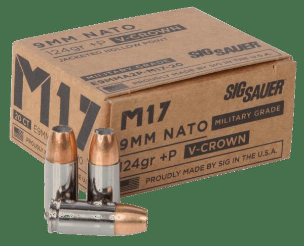 Sig Sauer 9MM +P 124 Gr Performance V-Crown JHP M17 (20)