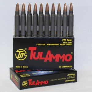 Tula Ammo 223 55 Grain HP Steel Case (20)