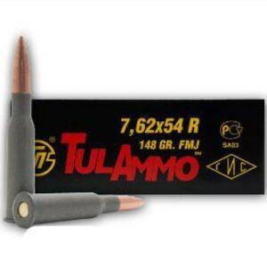 Tula Ammo 7.62X54R Russian 148 GR Centerfire Rifle FMJ (20)