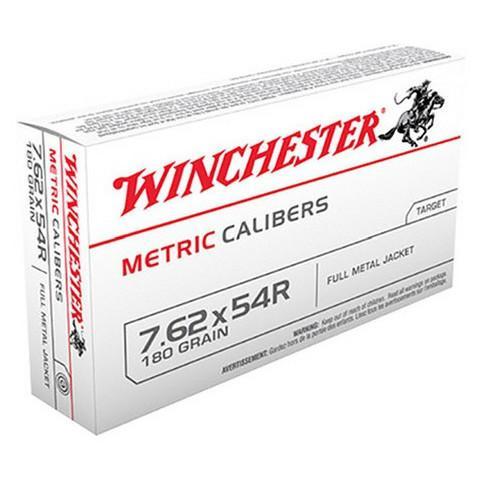 Winchester 7.62X54R Russian 180 Gr FMJ (20)