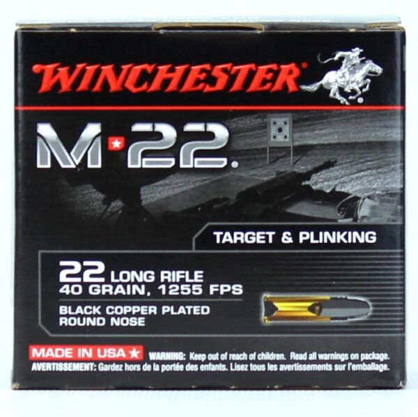 Winchester 22 LR 40 Gr M-22 Black Copper RN 1255 FPS (500)