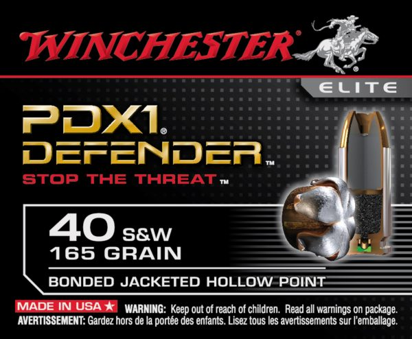 Winchester 40 S&W 165 GR Elite PDX1 Bonded JHP (20)