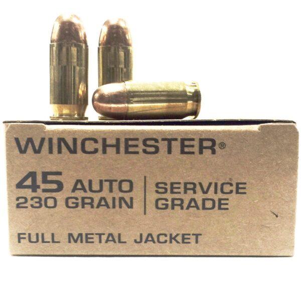 Winchester 45 Auto 230 Grain Full Metal Jacket Service Grade (50)