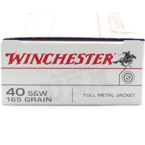 Winchester 40 S&W 165 Gr FMJ (50)
