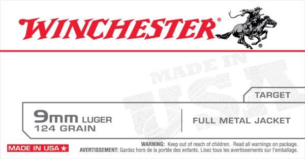 Winchester 9mm 124 Grain Target FMJ (50)
