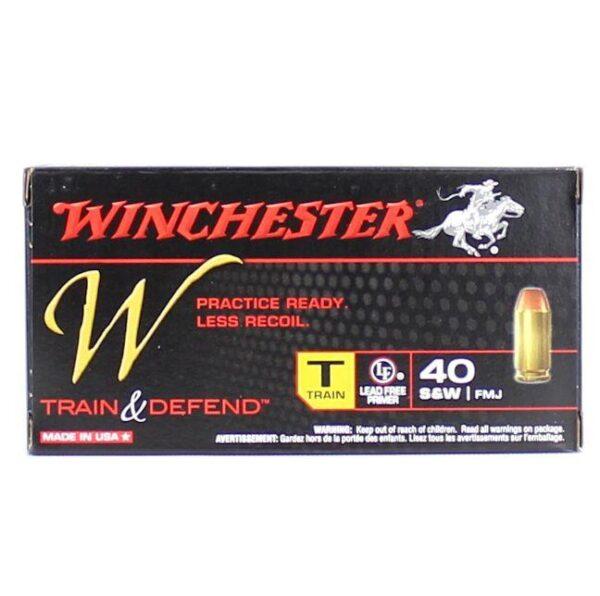 Winchester 40 S&W 180 Gr Train & Defend FMJ (50)