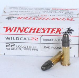 Winchester 22 LR 40 Grain Lead Round Nose Wildcat (50)