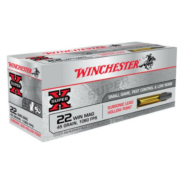 Winchester 22 WMR 45 GR Super-X Lead HP Subsonic (50)