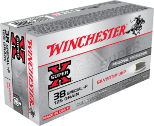 Winchester 38 Special +P 125 Gr Silver Tip JHP Super X (50)