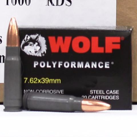 Wolf 7.62x39 123 Gr Hollow Point Non Corrosive (20)