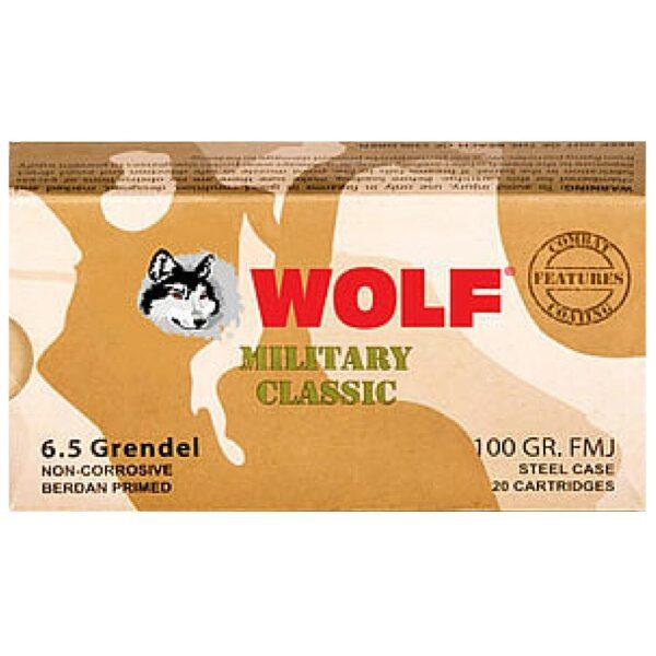 Wolf 6.5 Grendel FMJ 100 Gr (20) Non Corrosive