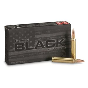 Hornady 223 Rem 75 Grain Hollow Point Boat Tail Match Black (20)