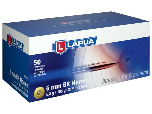Lapua 6mm Br Norma 105 Grain Hollow Point Boat Tail (50)