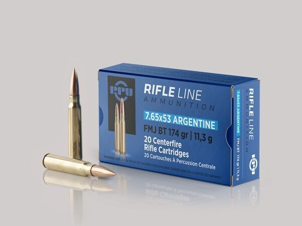 Prvi 7.65X53 Arg 174 Grain Full Metal Jacket (20)