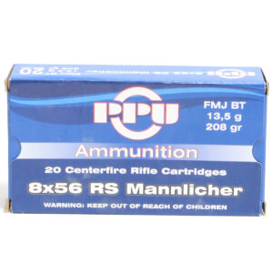 Prvi 8X56 Rs Hungarian Mannlicher 208 Grain Full Metal Jacket Boat Tail (20)