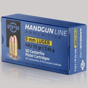 Prvi 9mm Luger 115 Grain Full Metal Jacket (50)