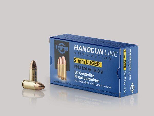 Prvi 9mm Luger 124 Grain Full Metal Jacket (50)