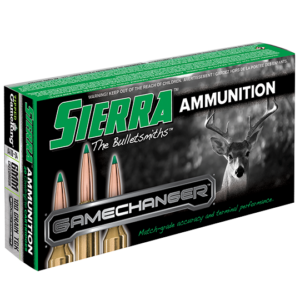 Sierra 6mm Creedmoor 100 Grain TGK Game Changer Polymer Tipped Spitzer Boat Tail (20)