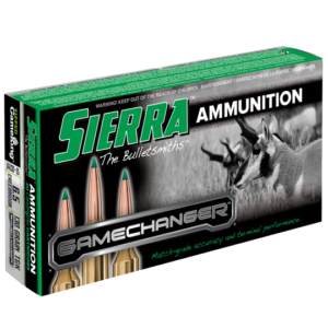 Sierra 6.5mm Creedmoor 130 Grain TGK Game Changer Polymer Tipped Spitzer Boat Tail (20)