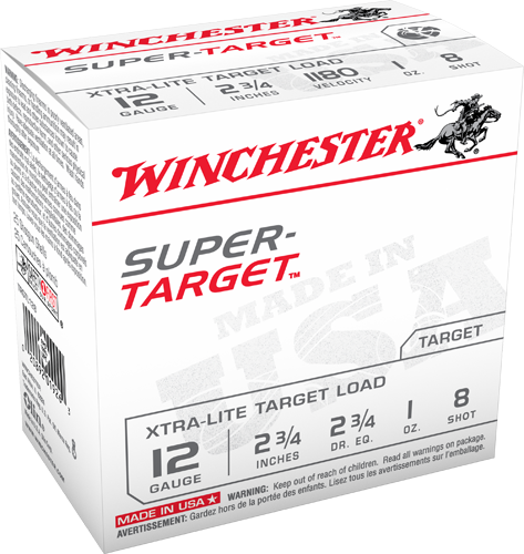"Win Shotshell 12 Ga 1 Oz. #8 2 3/4"" Super Target 1180 Fps (25)"