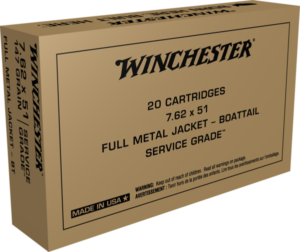 Winchester 7.62X51 NATO 147 Grain Full Metal Jacket Boat Tail (50)