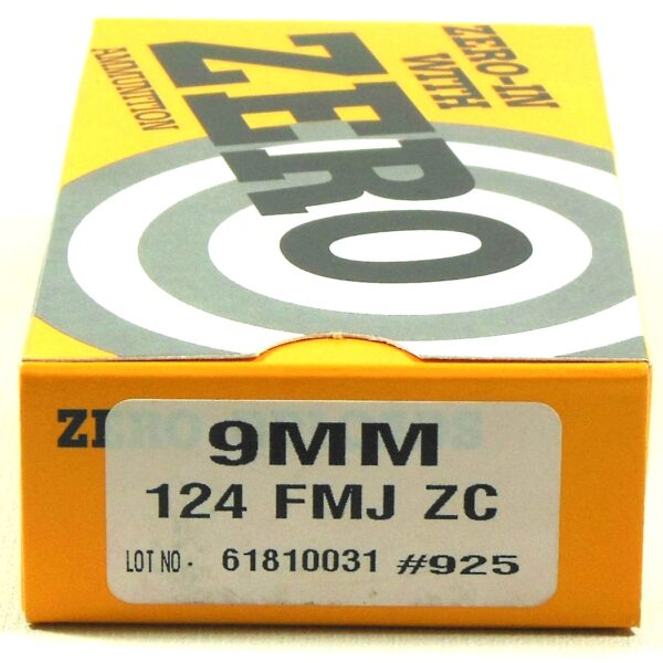 Zero Reload 9mm 124 Grain Full Metal Jacket (50)