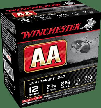 """Winchester Shotshell 12 Ga 1 1/8 Oz #7.5 2 3/4"""" AA 1145 Fps (25)"""
